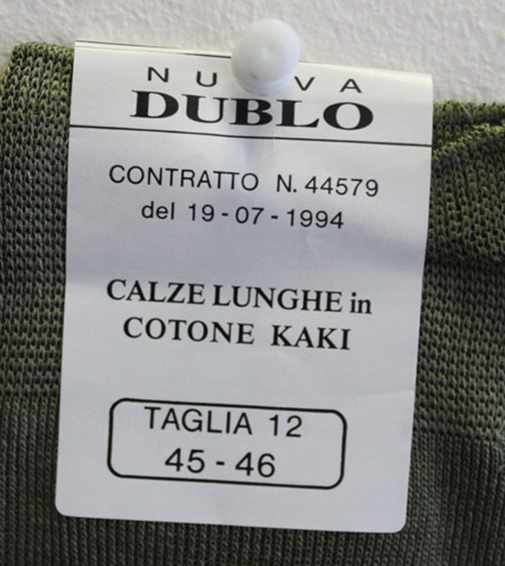 Italian Military Khaki Socks Detail